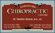 Amberwood Chiropractic - business card colour