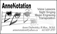 AnneNotation - business card B&W