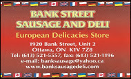 Bank St Deli - business card Colour