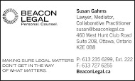 Beacon Legal - business card B&W