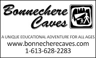 Bonnechere Caves - business card B&W