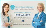 Cain & Dang Associates - business card colour
