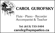Carol Gurofsky - business card B&W