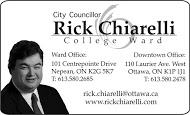 Councillor Chiarelli - business card B&W