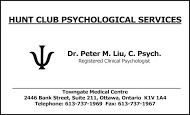 Dr. Peter Liu - business card B&W