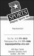 Dugauy Sports - business card B&W