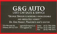 G&G Auto - business card colour