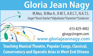 Gloria Jean Nagy - business card colour