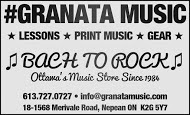 Granata Music - business card B&W