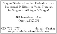 Heather Dufault - business card B&W