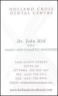 Holland's Cross Dental Centre - Business card colour