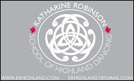 Katherine Robinson Scool of Highland Dancing - business card Colour