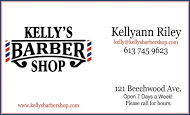 Kelly's Barber Shop - Business Card Colour