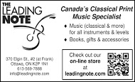 Leading Note - business card B&W