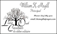 Lone Oak Consultants - business card B&W