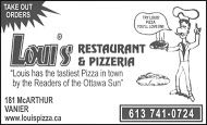 Loui's Pizza - Business Card B&W