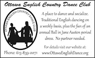 Ottawa English Country Dance Club business card B&W