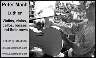 Peter Mach Luthier - business card B&W