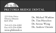 Pretoria Bridge Dental - business card B&W