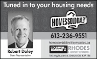Robert Daley, Realtor - business card B&W