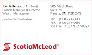 Scotia McLeod - business card colour