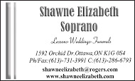 Shawne Elizabeth - business card B&W