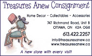 Treasures Anew Consignment - business card colour