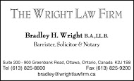 Wright Law Firm - business card B&W