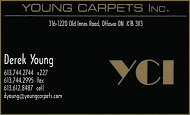Young Carpets - business card colour