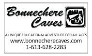 Bonnechere Caves - business card