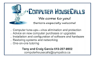 Computer House Calls - business card