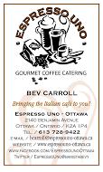 Espresso Uno - business card VERT