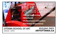 Ottawa School of Art - business card