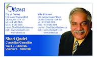 Politician, Shad Qadri - business card