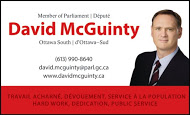 Politicians - David McGuinty - business card