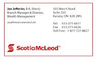 Scotia McLeod - business card