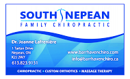 South Nepean Chiropractic - business card-1
