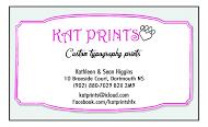 kat prints - business card