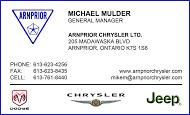 Arnprior Chrysler-Dodge-Jeep - business card colour