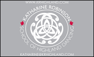 Katherine Robinson Scool of Highland Dancing - business card