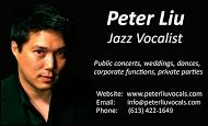 Peter Liu Jazz Vocalist - BC
