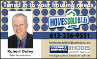 Robert Daley, Realtor - business card