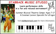 Stabback Music Studio - business card