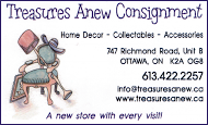 Treasures Anew Consignment - business card